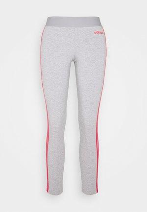 Tights - medium grey heather/pink