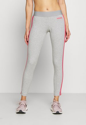 Legginsy - medium grey heather/pink