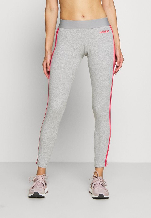 Medias - medium grey heather/pink