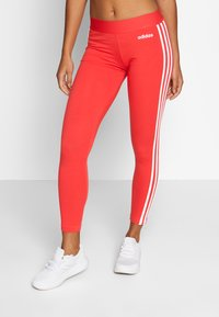 adidas Performance - Legging - glored/white - 0