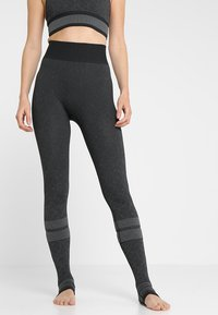 adidas Performance - Leggings - black/gresix - 3