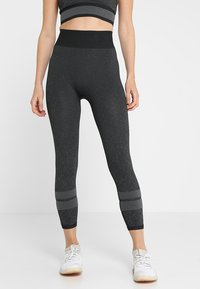 adidas Performance - Leggings - black/gresix - 0