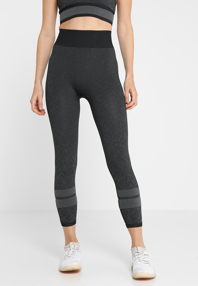 adidas Performance - Leggings - black/gresix
