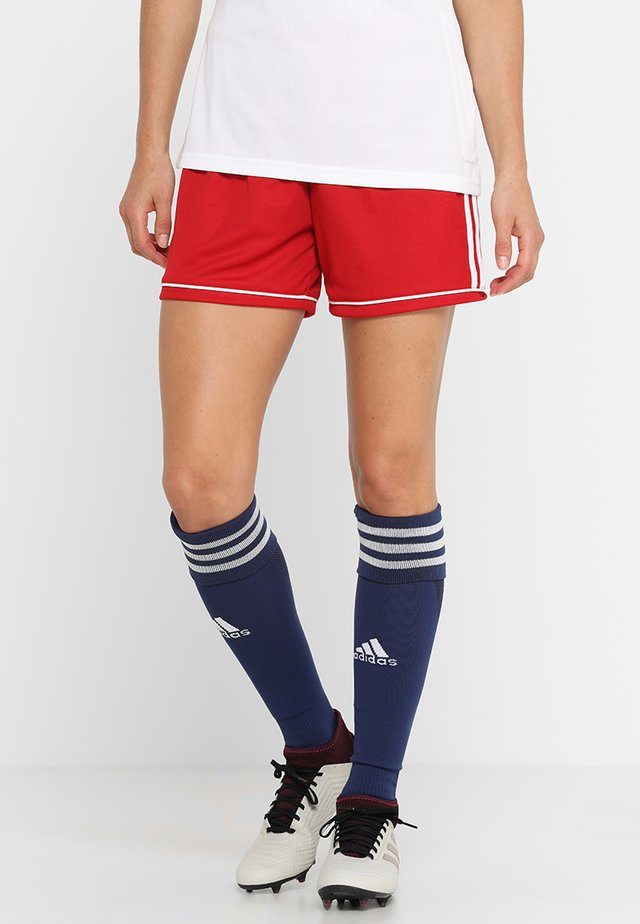 SQUADRA CLIMALITE FOOTBALL 1/4 SHORTS - Pantalón corto de deporte - power red/white