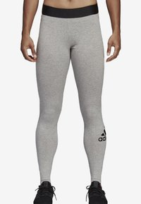 adidas Performance - MUST HAVES BADGE OF SPORT LEGGINGS - Tights - grey - 0