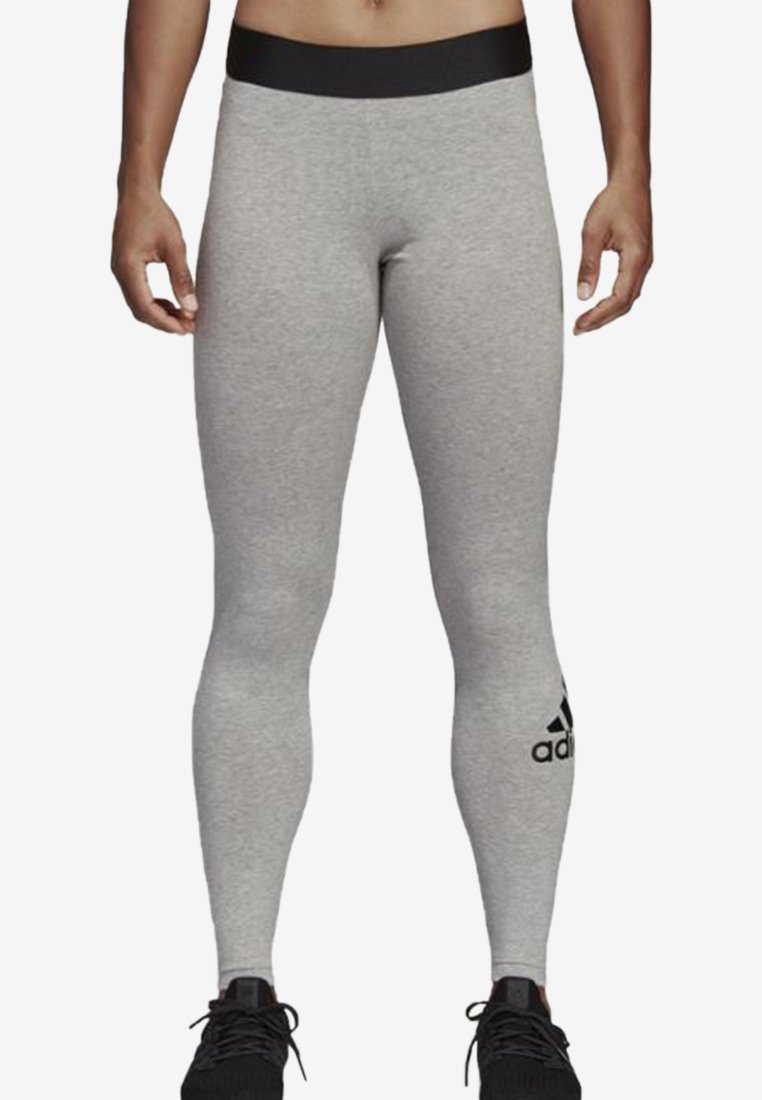 adidas Performance - MUST HAVES BADGE OF SPORT LEGGINGS - Medias - grey