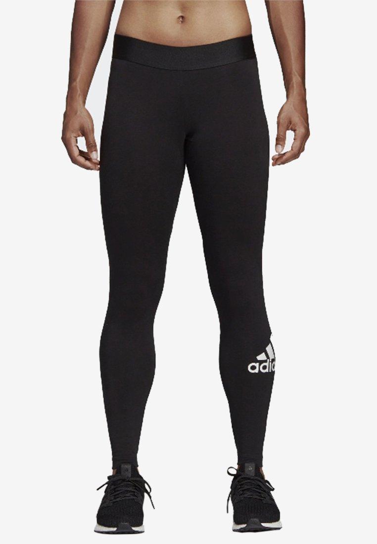adidas Performance - Must HAVES BADGES OF SPORT LEGGINGS - Leggings - black