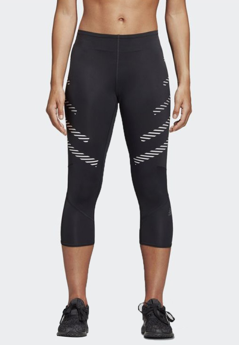 adidas Performance - HOW WE DO SPEED 3/4 TIGHTS - 3/4 Sporthose - black