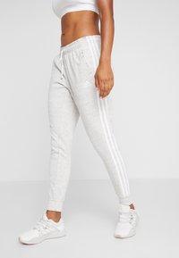 adidas Performance - PANT - Tracksuit bottoms - medium greyheather/off white/white - 0