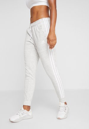 PANT - Pantalon de survêtement - medium greyheather/off white/white