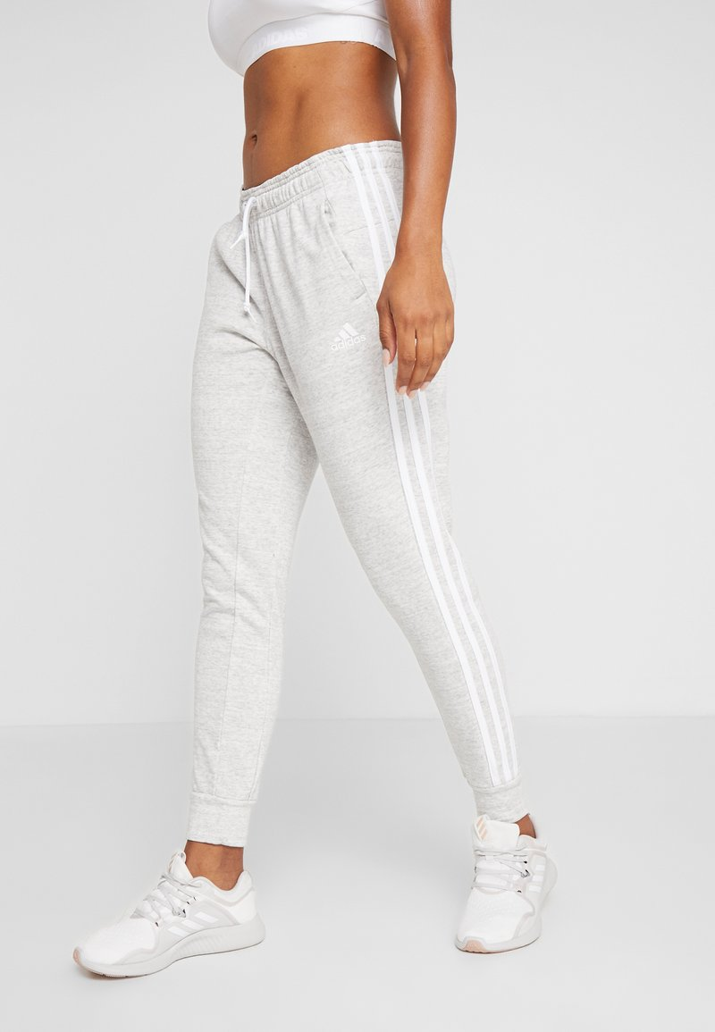 adidas Performance - PANT - Tracksuit bottoms - medium greyheather/off white/white