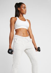 adidas Performance - PANT - Tracksuit bottoms - medium greyheather/off white/white - 3