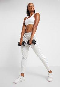 adidas Performance - PANT - Tracksuit bottoms - medium greyheather/off white/white - 1