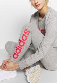 adidas Performance - LIN - Tights - grey heather/pink - 4