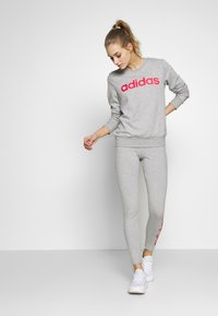 adidas Performance - LIN - Tights - grey heather/pink - 1
