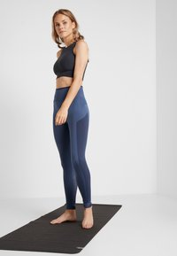 adidas Performance - SPORT PRIMEKNIT LEGGINGS - Collants - dark blue - 1