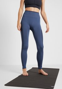 adidas Performance - SPORT PRIMEKNIT LEGGINGS - Collants - dark blue - 0