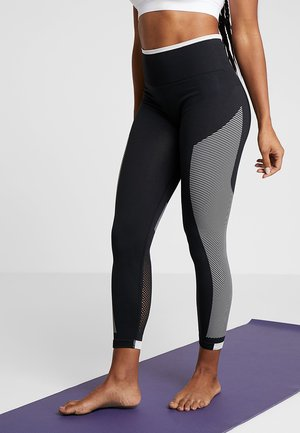 SPORT PRIMEKNIT LEGGINGS - Tights - black/white