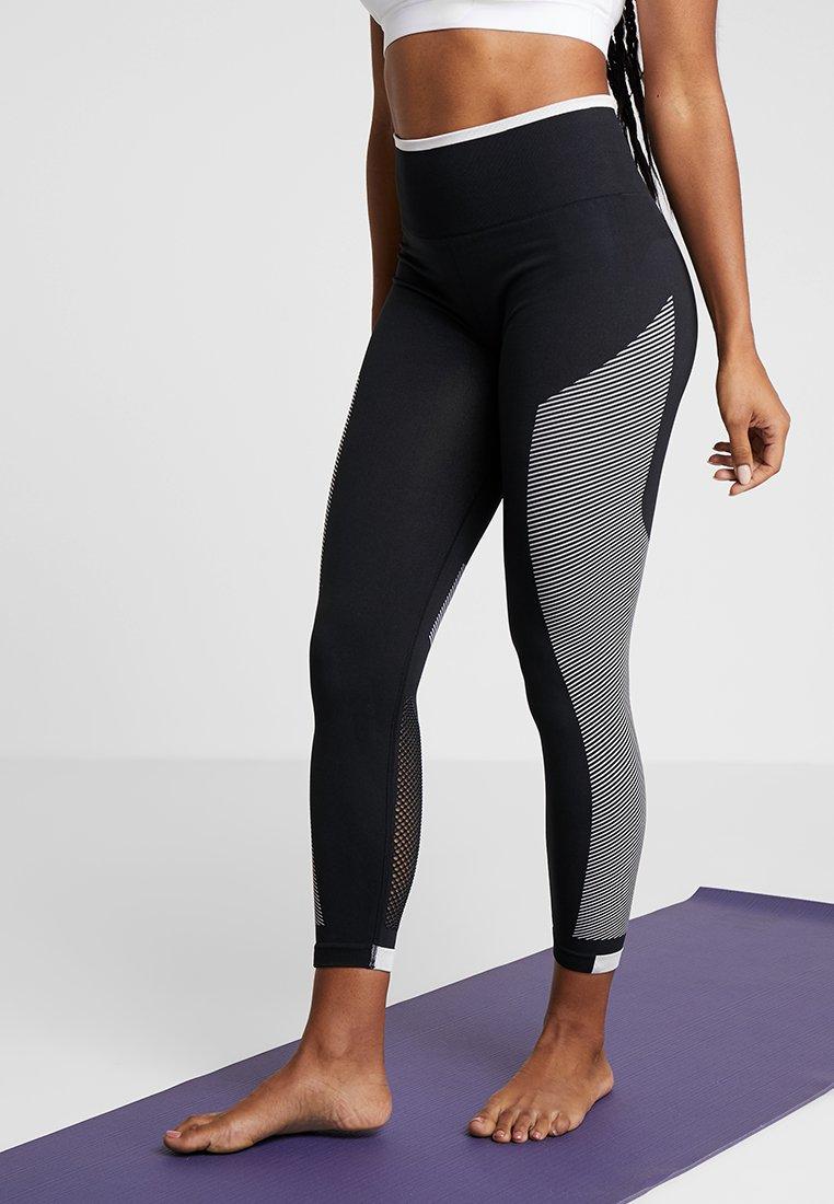 adidas Performance - SPORT PRIMEKNIT LEGGINGS - Tights - black/white