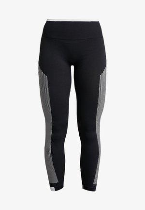 SPORT PRIMEKNIT LEGGINGS - Legging - black/white