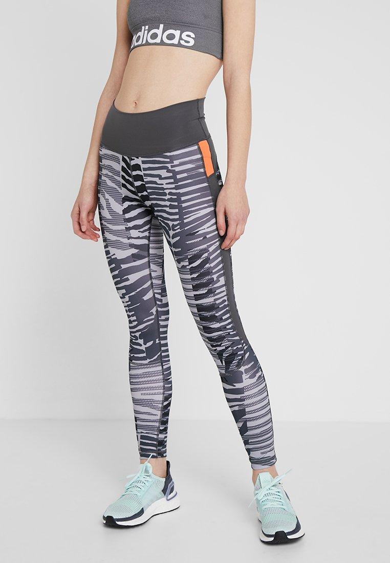 adidas Performance - SPORT HIGH WAIST 7/8 LEGGINGS - Collants - grey