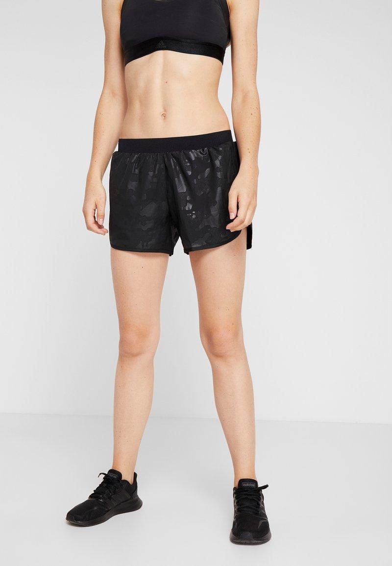 adidas Performance - SHORT CAMO - kurze Sporthose - black