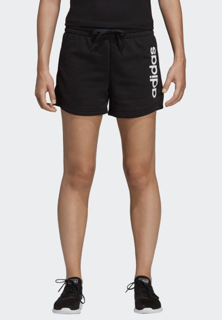 adidas Performance - ESSENTIALS LINEAR LOGO SHORTS - kurze Sporthose - black