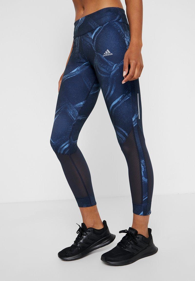 adidas Performance - OWN THE RUN - Leggings - blue