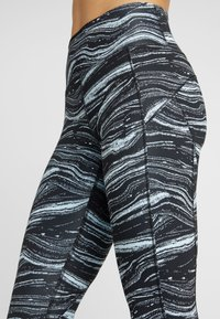 adidas Performance - SPORT CLIMALITE LEGGINGS - Medias - blue/black - 4