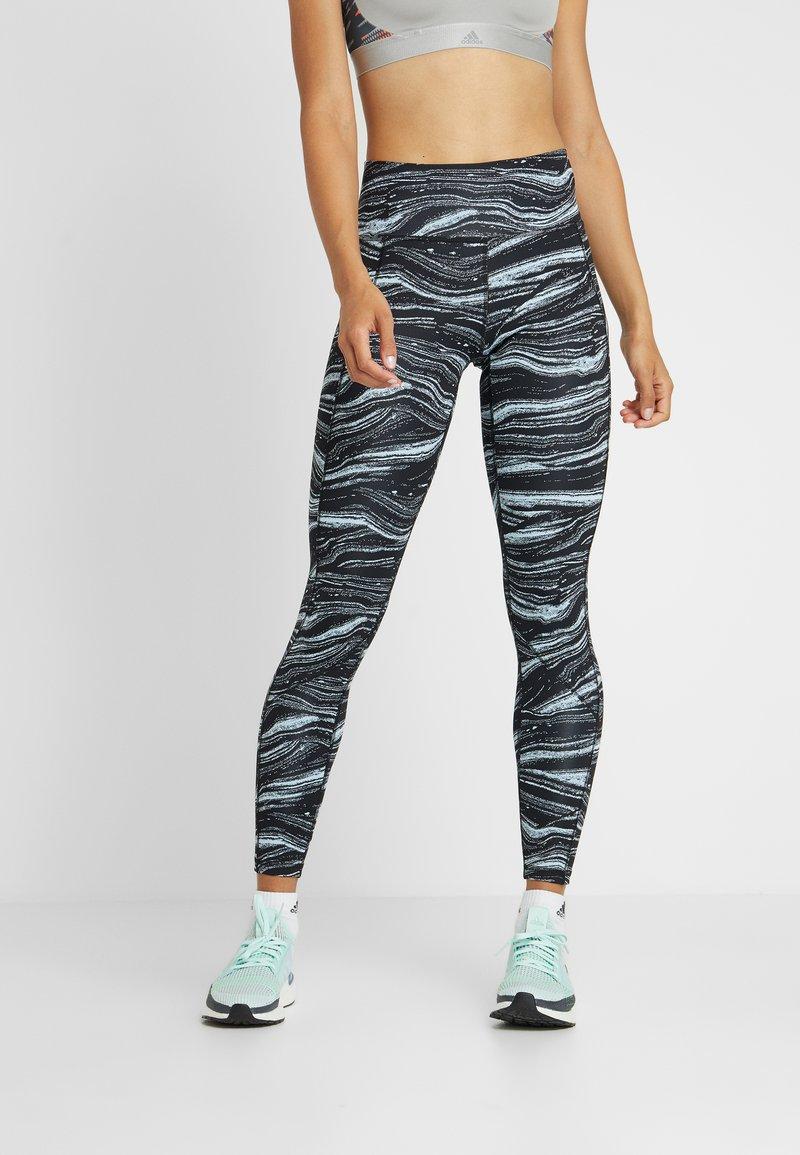 adidas Performance - SPORT CLIMALITE LEGGINGS - Leggings - blue/black