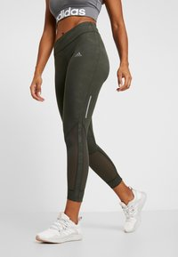 adidas Performance - OWN THE RUN TGT - Leggings - legend earth - 0