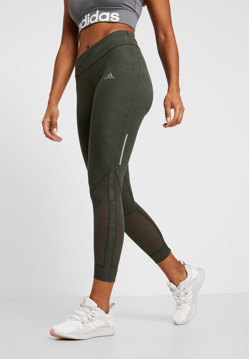 adidas Performance - OWN THE RUN TGT - Leggings - legend earth
