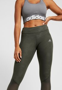 adidas Performance - OWN THE RUN TGT - Leggings - legend earth - 3