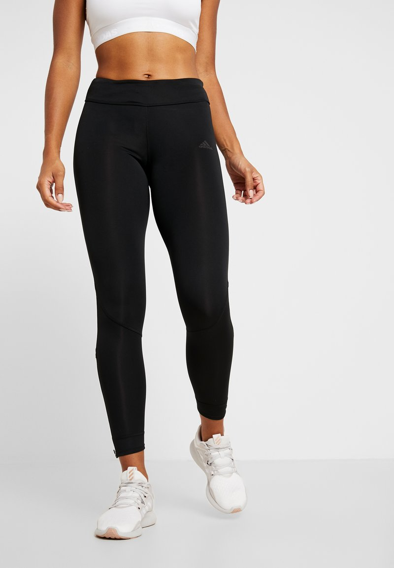 adidas Performance - OWN THE RUN - Tights - black/real pink