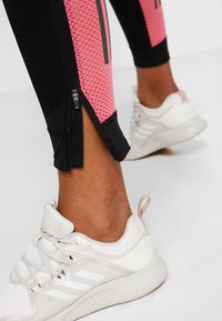 adidas Performance - OWN THE RUN - Tights - black/real pink - 5