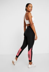 adidas Performance - OWN THE RUN - Tights - black/real pink - 2