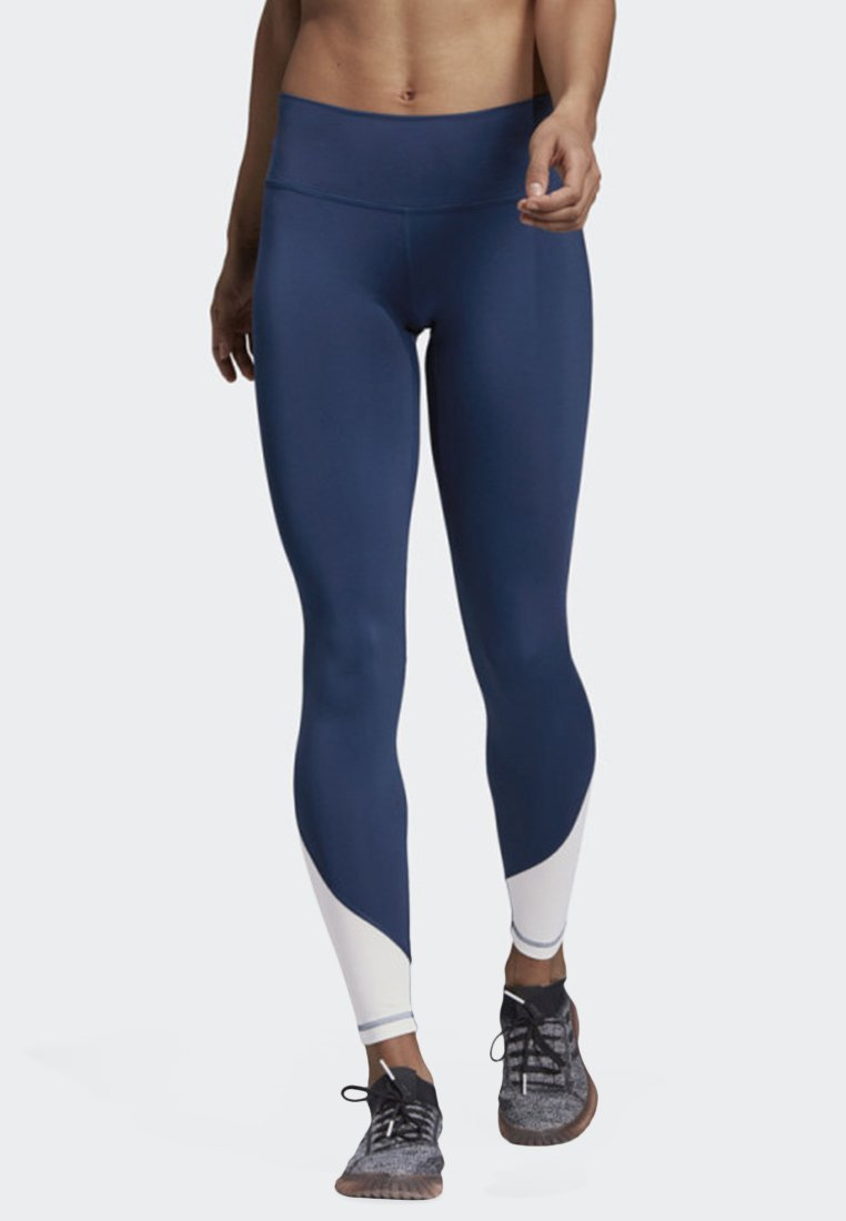 adidas Performance - BELIEVE THIS HIGH-RISE ELEVATED LONG LEGGINGS - Tights - blue