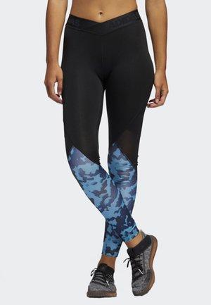 ALPHASKIN CAMOUFLAGE LEGGINGS - Collants - black