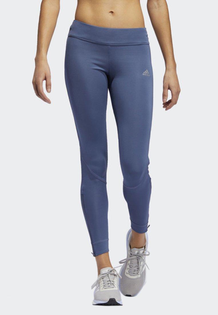 adidas Performance - OWN THE RUN LEGGINGS - Tights - blue