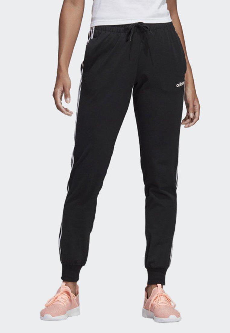 adidas Performance - ESSENTIALS 3-STRIPES JOGGERS - Tracksuit bottoms - black