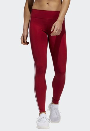 BELIEVE THIS 3-STRIPES LEGGINGS - Leggings - red