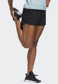 adidas Performance - TWO-IN-ONE WOVEN SHORTS - Sports shorts - black - 2