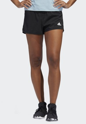 TWO-IN-ONE WOVEN SHORTS - Sports shorts - black