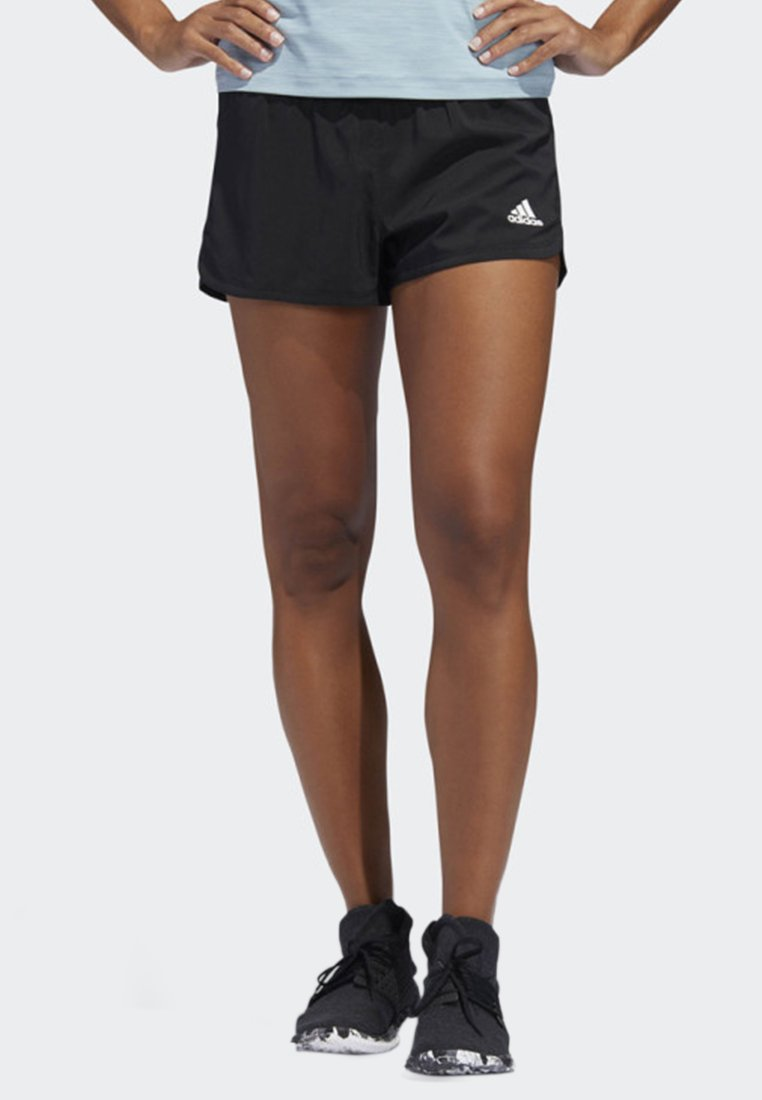 adidas Performance - TWO-IN-ONE WOVEN SHORTS - Sports shorts - black