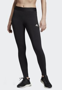 adidas Performance - ASYMMETRICAL 3-STRIPES LEGGINGS - Medias - black - 0