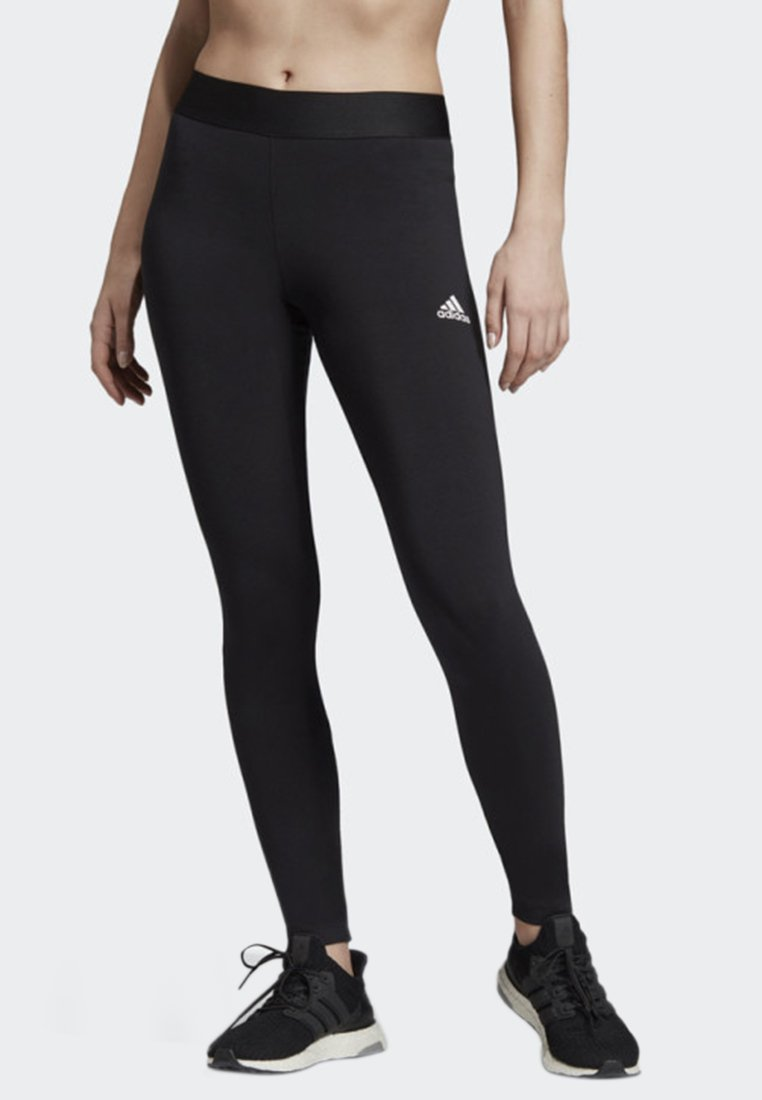 adidas Performance - ASYMMETRICAL 3-STRIPES LEGGINGS - Medias - black