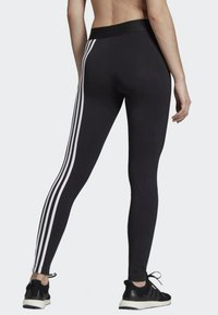 adidas Performance - ASYMMETRICAL 3-STRIPES LEGGINGS - Medias - black - 1