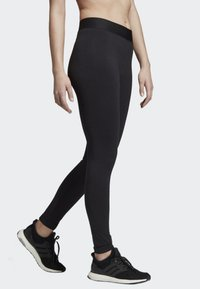 adidas Performance - ASYMMETRICAL 3-STRIPES LEGGINGS - Medias - black - 2