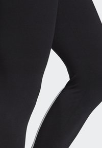 adidas Performance - ASYMMETRICAL 3-STRIPES LEGGINGS - Medias - black - 5