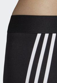 adidas Performance - ASYMMETRICAL 3-STRIPES LEGGINGS - Medias - black - 4